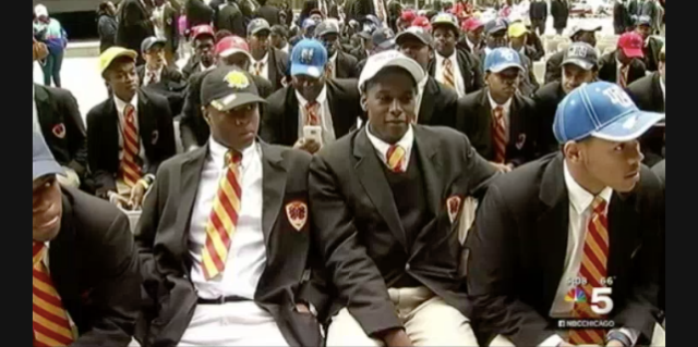 Urban Prep Academy 2016 Graduates (photo via nbcchicago screenshot)