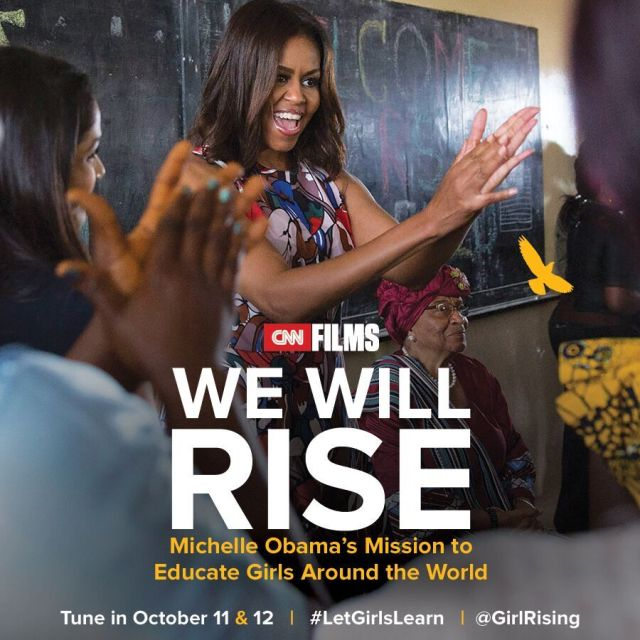 "First Lady Michelle Obama ""We Will Rise"" (photo via education.microsoft.com)"