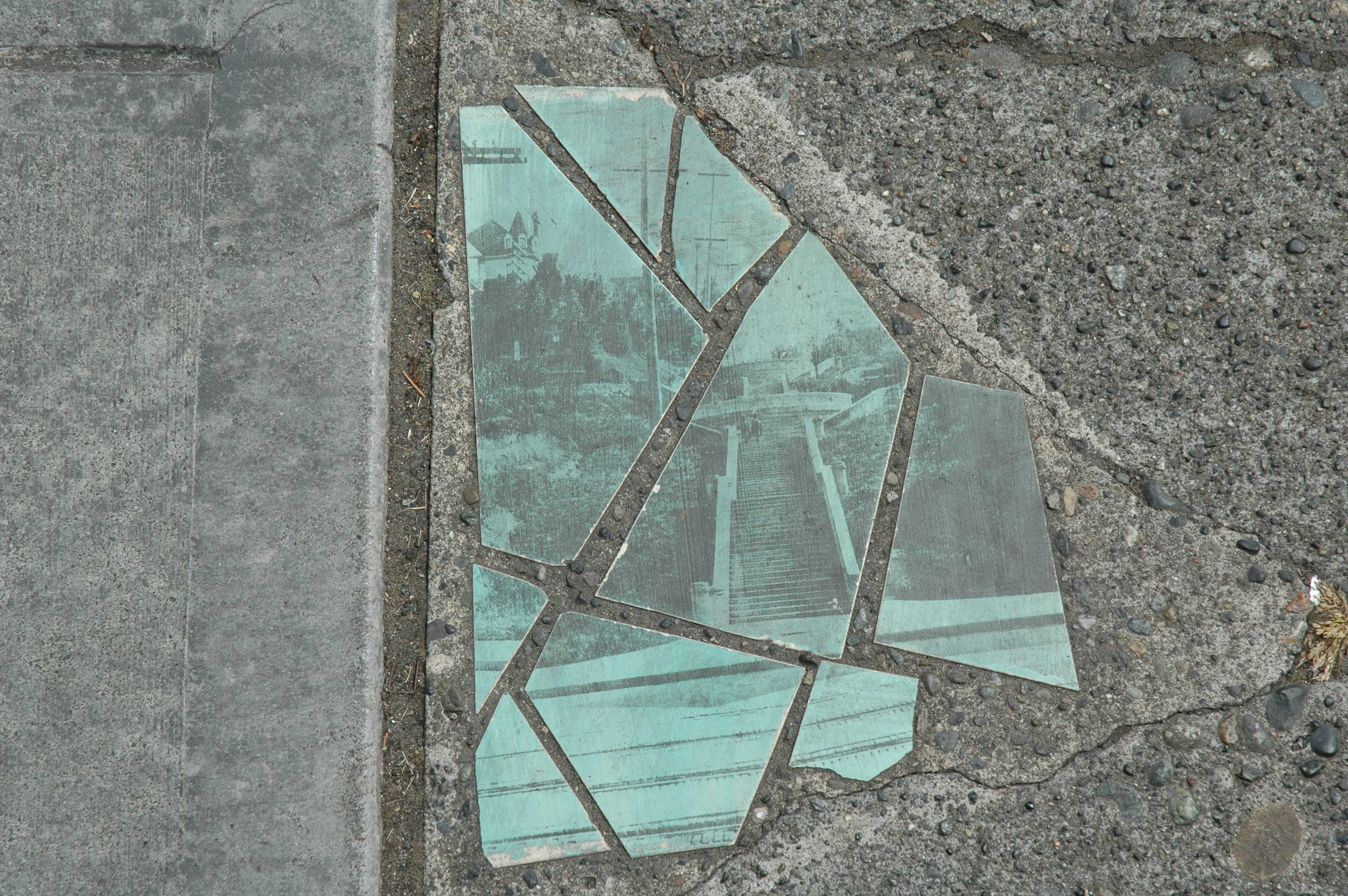 Eclectic sidewalk art and history, it's everywhere in Seattle