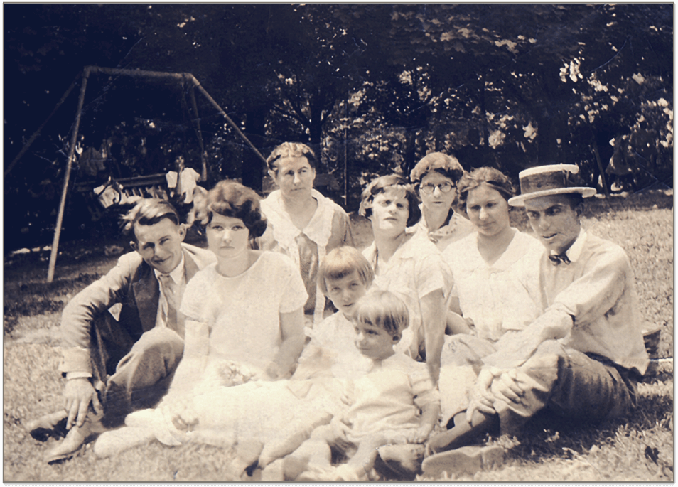 The Deimler Family (image used from Tom's book, 'Straight Rows')
