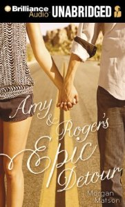 Amy And Roger's Epic Detour, Morgan Matson, Book Cover, audiobook cover, road, hands, holding hands