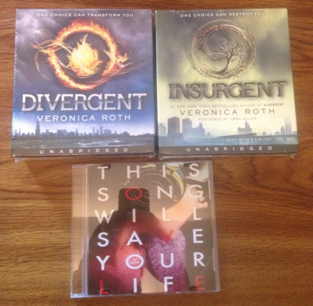 Divergent and Insurgent on Audio and This Will Save Your Life