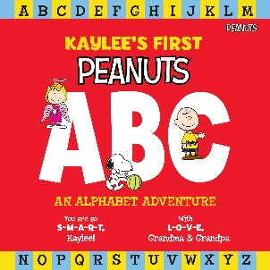 Peanuts ABC Personalized Book Cover
