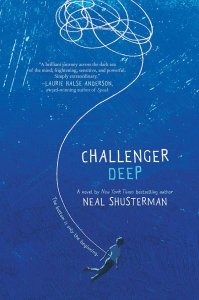 Challenger Deep by Neal Shusterman is an excellent book about a main character named Caden Bosch who has schizophrenia. Click for my full review.