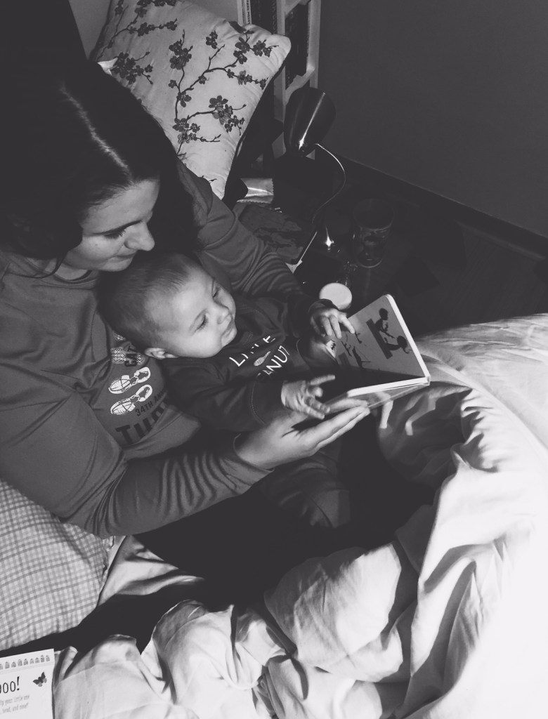 In which I read a book to Teddy in my lap and he cooperates.