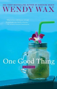 One Good Thing by Wendy Wax has a cover that just screams summer what with the mason jar and all. Check out my full review of the audiobook.