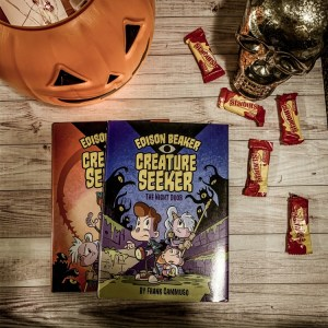 dison Beaker, Creature Seeker: The Night Door andEdison Beaker, Creature Seeker: The Lost Cityby Frank Cammuso. These are really fun graphic novels that will immediately engage developing readers.