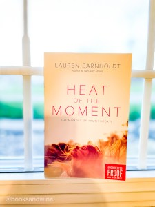 Lauren Barnholdt'sHeat Of The Moment is the first of Barnholdt'sMoment Of Truth trilogy. It is also the first Barnholdt book I've ever read.