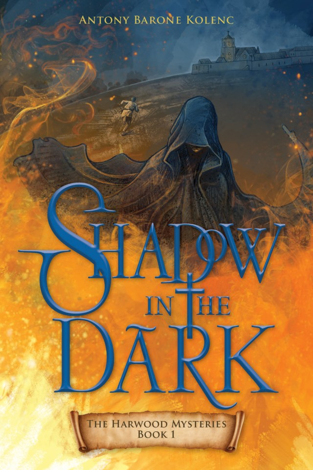 """Book cover """"Shadow in the Dark"""" book review Catholic kids"""
