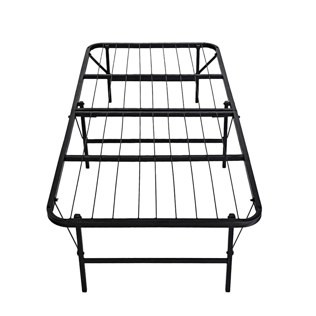 U S Metal Folding Twin Size Black Platform Bed Frame