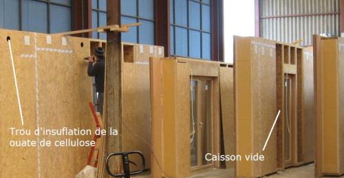 Montage ossature Bois en atelier