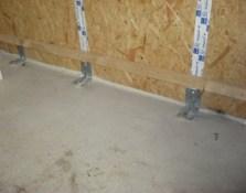 Traitement des fuites d'air murs maison passive