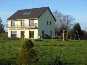 Maison passive haute normandie en décembre
