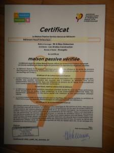 certificat passivhauss maison passive en Normandie