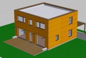 Maison Passive avec un toit terrasse