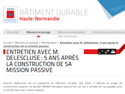Interview batiment durable haute normandie