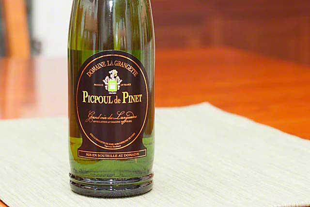 Refreshing and change of pace Picpoul de Pinet