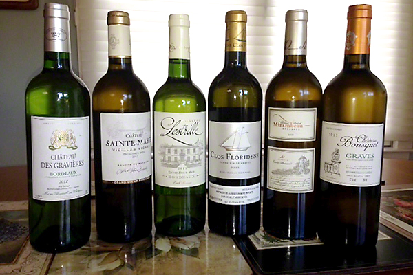 White Bordeaux wines