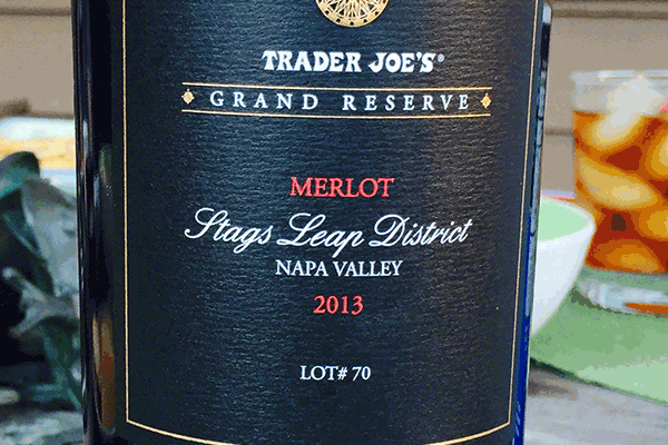 Trader Joes Stags Leap Merlot