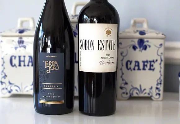 Amador Barbera wines