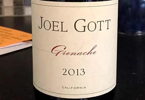 Joel Gott 2013 California Grenache