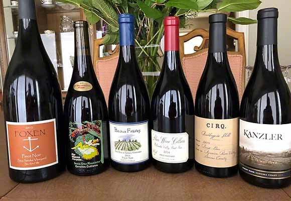 Blind expenive Pinot Noir winesDelicious Pinot Noir wines