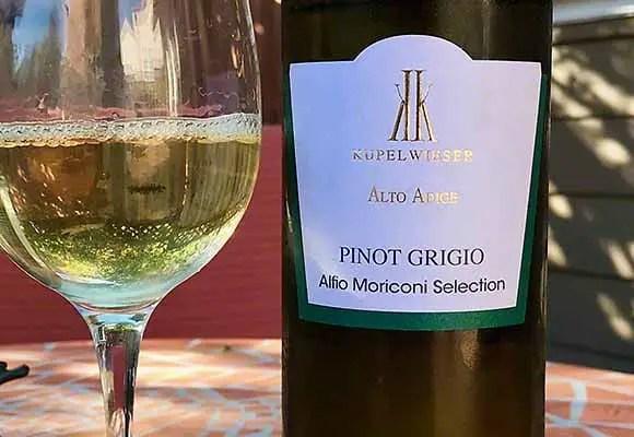 A delicious Alto Adige Pinot Grigio