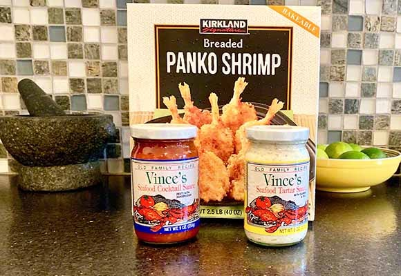 Panko Breaded Shrimp - $7.99 for blah - Cocktail sauce from Lunardi's Market