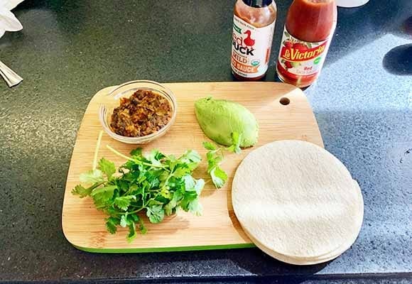 quick and easy lunch taco