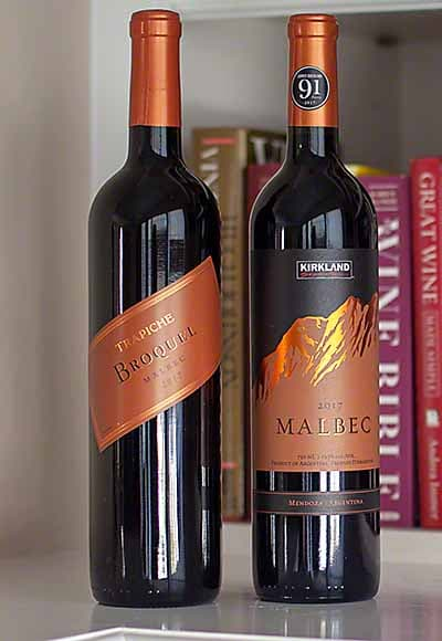 Broquel Malbec vs Kirkland Malbec - same winemaker, winery.