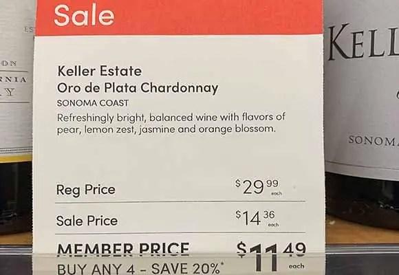Keller Chardonnay Cost Plus