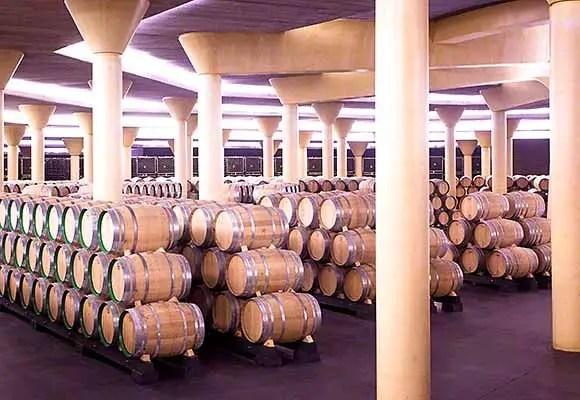 Tempranillo wine aging in barrels