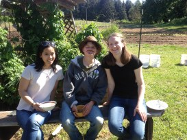 Anh, Stoni, and Lissa at the May Day Party