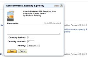 Prioritizing Amazon Wish List