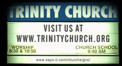 Church Website Publicity Sign
