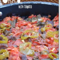 Oven Roasted Okra with Tomato