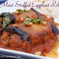 Meat Stuffed Eggplant Roll