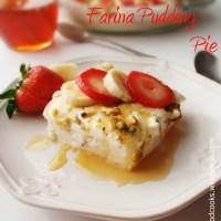 Farina Pudding Pie (Layali Lubnan).