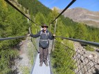 Ric on the suspension bridge. 25 years ago he would not have walked across such a thing.