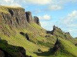 Magnifcent landform on the Trotternish Peninsula, Isle of Skye. No, we did not climb it. Not crazy; I am an easy-hiker.
