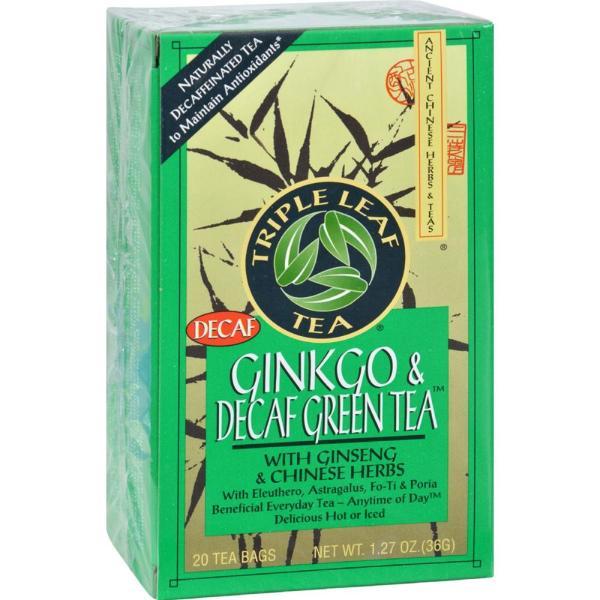 Triple Leaf Tea - Ginkgo And Green Tea - Decaffeinated ( 6 - 20 BAG) %count(alt)