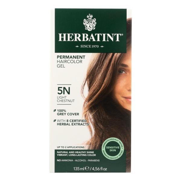 Herbatint Permanent Herbal Haircolour Gel 5N Light Chestnut - 135 ml %count(alt)