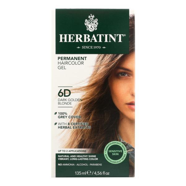 Herbatint Permanent Herbal Haircolour Gel 6D Dark Golden Blonde - 135 ml %count(alt)