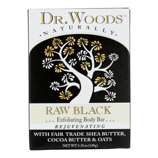 Dr. Woods Bar Soap Raw Black - 5.25 oz %count(alt)