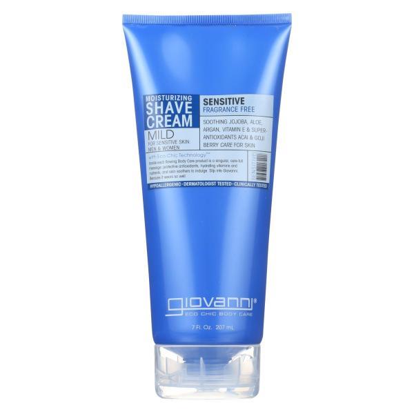 Giovanni Moisturizing Shave Cream Sensitive Skin Men and Women Fragrance Free - 7 fl oz %count(alt)