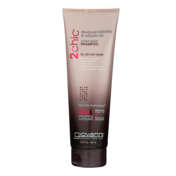 Giovanni 2chic Ultra-Sleek Shampoo with Brazilian Keratin and Argan Oil - 8.5 fl oz %count(alt)
