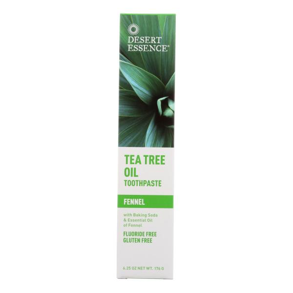 Desert Essence - Natural Tea Tree Oil Toothpaste Fennel - 6.4 oz %count(alt)