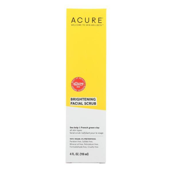 Acure - Brightening Facial Scrub - Argan Extract and Chlorella - 4 FL oz. %count(alt)