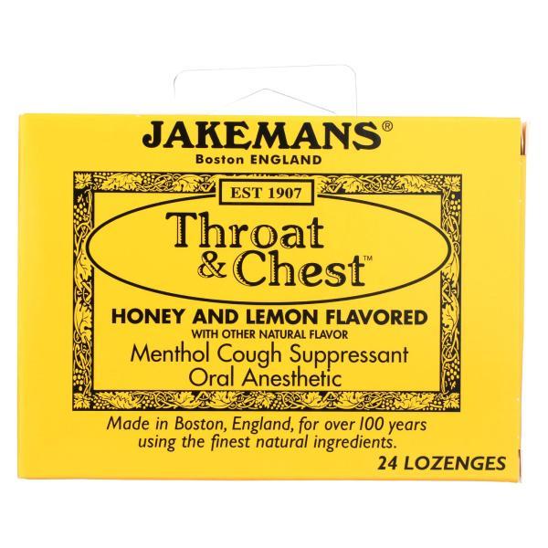 Jakemans Throat and Chest Lozenges - Honey and Lemon - 24 Pack %count(alt)
