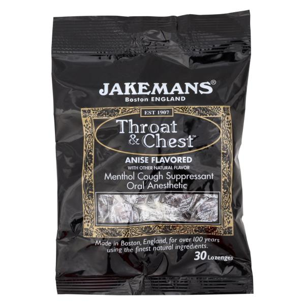 Jakemans Throat and Chest Lozenges - Licorice Menthol - Case of 12 - 30 Pack %count(alt)